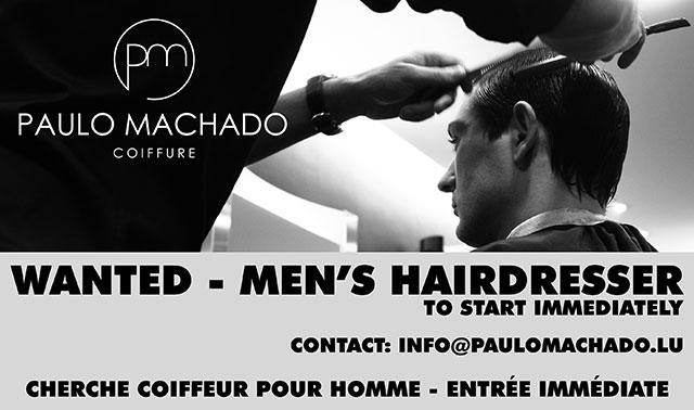 Paulo Machado Men's Hairdresser Wanted
